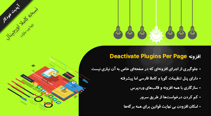 افزونه Deactivate Plugins Per Page - کاور
